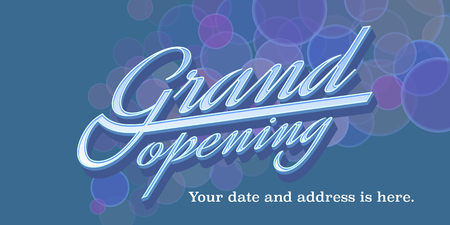 Grand opening vector illustration, background, banner, design element for new store Illustration