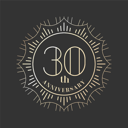 30th: Graphic design element for 30th anniversary birthday card