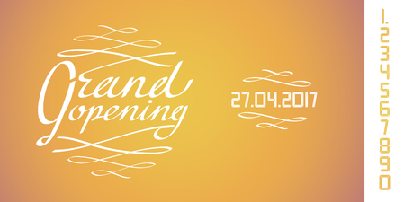 Grand opening vector illustration, background for new store, retail place. Template design element for opening event can be used as banner Illustration