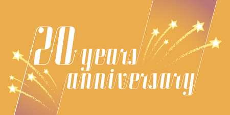 20 years anniversary vector icon, logo. Graphic design element or banner for 20th anniversary