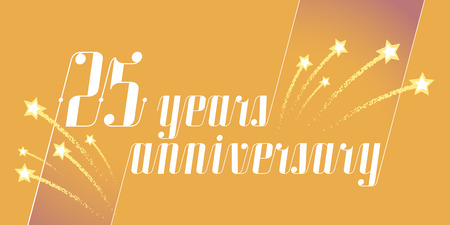 25 years anniversary vector icon, logo. Graphic design element or banner for 25th anniversary