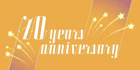 70 years anniversary vector icon, logo. Graphic design element or banner for 70th anniversary