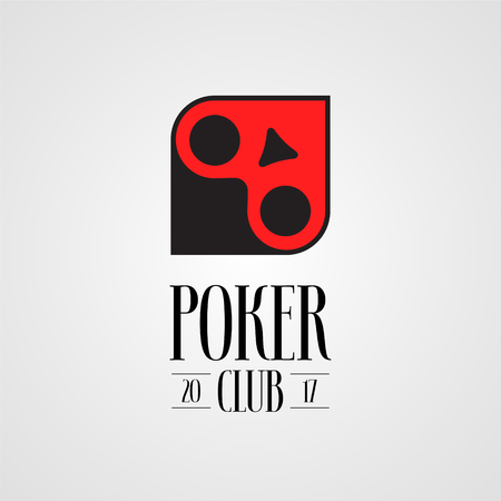 chances are: Poker, casino vector logo, sign. Nonstandard design element with cards suits for poker club