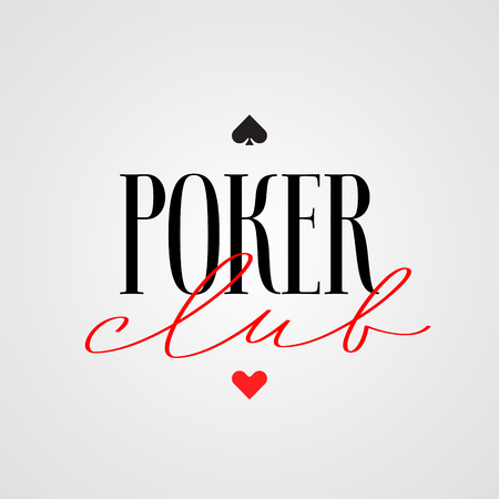 Poker club, casino vector logo, emblem. Template design with cards suits for poker tournament banner