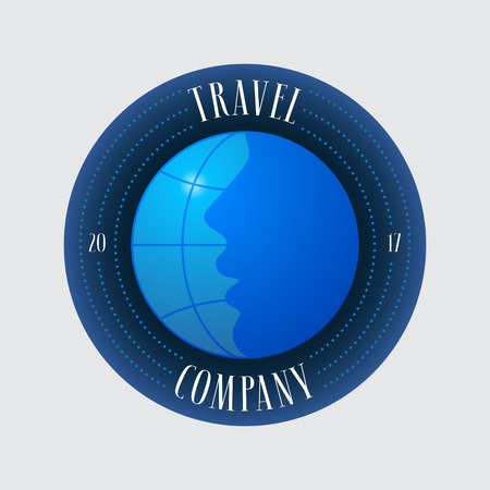 meridian: Travel agency vector logo, emblem. Illustration
