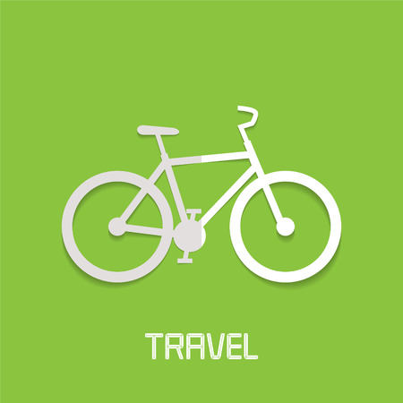 Bicycle vector illustration, logo. Sports and adventures concept, active traveling