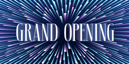 Grand opening vector background. Bright background design with sign for flyer or banner for opening ceremony