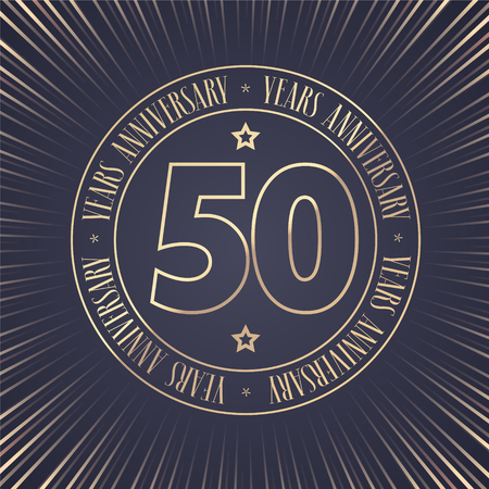 50 years anniversary icon.