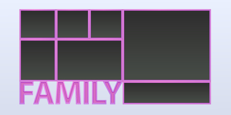 Collage of photo frames vector illustration. Sign family and composition of blank photo frames