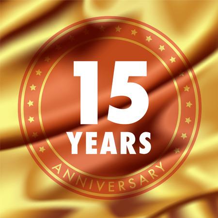 15 years anniversary vector icon,.