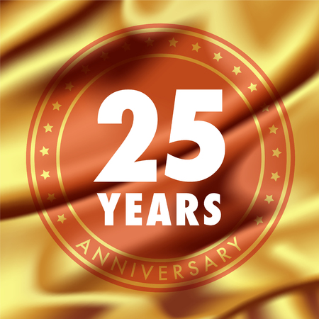 25 years anniversary vector icon.