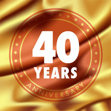 40 years anniversary vector icon.