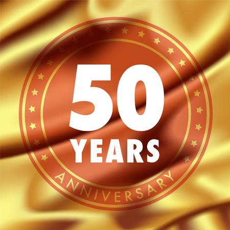 50 years anniversary vector icon.