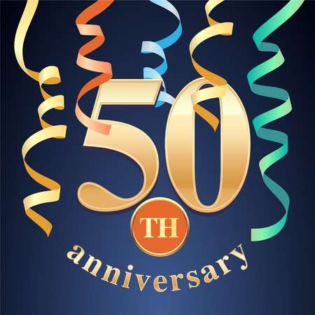 50 years anniversary celebration icon