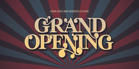 Grand opening banner.