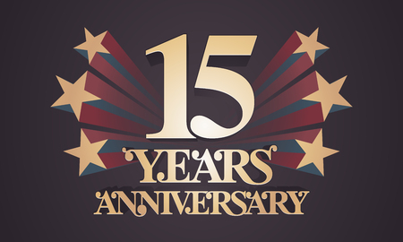 Th anniversary logo years anniversary colorful vector design