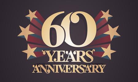 Icone De Vecteur De 60 Ans Anniversaire Logo Element De Design Graphique Avec Des Chiffres D Or Pour La Celebration Du 60e Anniversaire Clip Art Libres De Droits Vecteurs Et Illustration Image 90411424