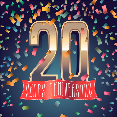 20 years anniversary icon