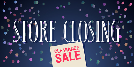 Vector illustration for store closing event. Clearance sale advertising design element, banner for seasonal offers Illustration