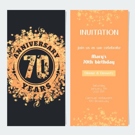 Invitación De Aniversario De 50 Años Para Celebrar La