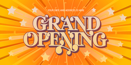 Grand opening vector background. Nonstandard design element for banner for opening ceremony with elegant abstract background Illusztráció