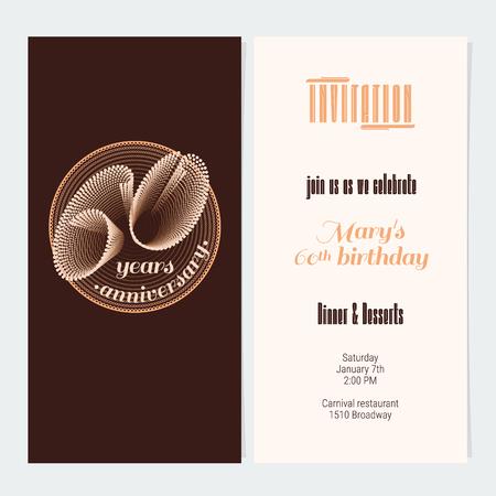 60 Years Anniversary Invitation Vector Illustration Graphic