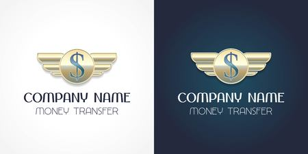 Vector de transferencia de dinero rápido, icono. Elemento de diseño de plantilla con signo de dólar para transferencia global de dinero en efectivo