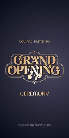 Grand opening ceremony invitation vector illustration