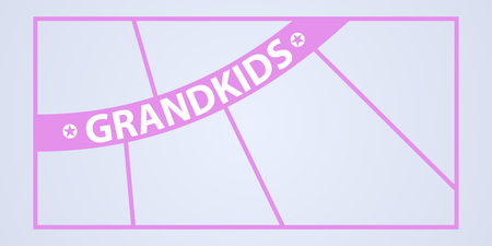 Collage of photo frames vector illustration, background. Sign Grandkids and template photo frames with borders