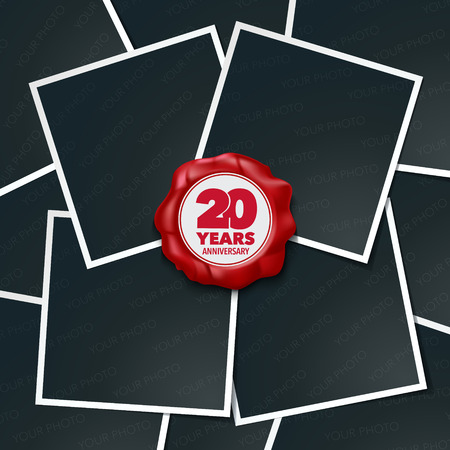 20 years anniversary vector icon, logo