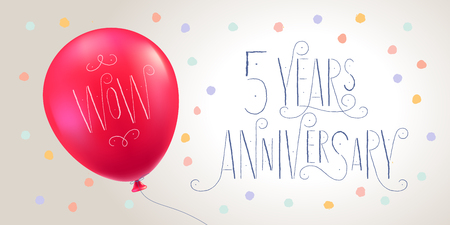 5 years anniversary Template design element Illustration
