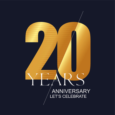 20 years anniversary vector icon, symbol, logo. Graphic design element