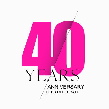40 years anniversary vector icon, logo. Design element