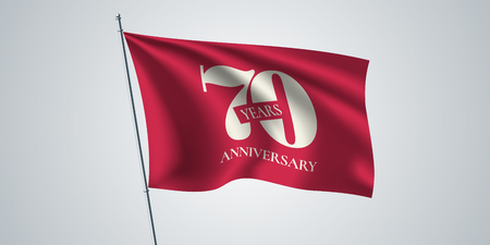 70 years anniversary vector icon, logo. Template design element Illustration