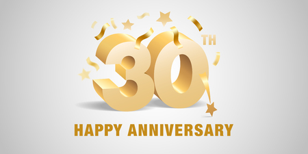 30 years anniversary vector icon, logo. Graphic design template 矢量图像