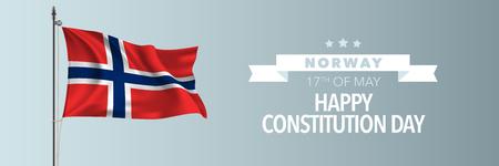 Norway happy constitution day greeting card, banner vector illustration Vektorgrafik