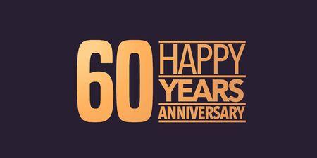 60 years anniversary icon. Graphic background or card for 60th anniversary Vektoros illusztráció