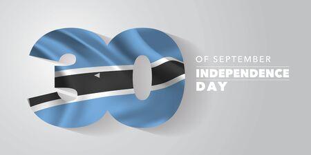 Botswana independence day greeting card, banner, vector illustration Ilustração