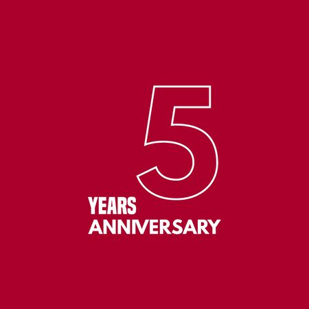 5 years anniversary vector icon, logo. Graphic design element with number