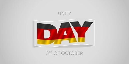 Happy Germany unity day vector banner, greeting card.