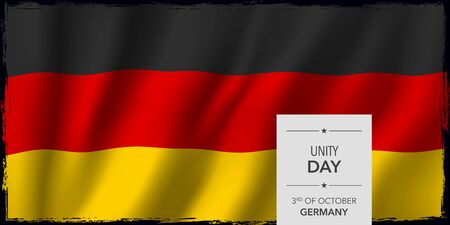Germany happy unity day greeting card, banner vector illustration