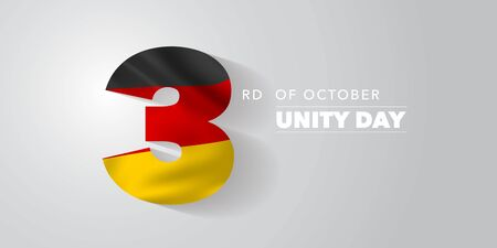 Germany unity day greeting card, banner, vector illustration. Иллюстрация