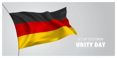 Germany unity day greeting card, banner, horizontal vector illustration Фото со стока - 131877577