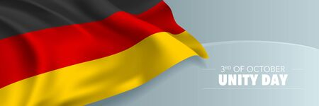 Germany unity day vector banner, greeting card