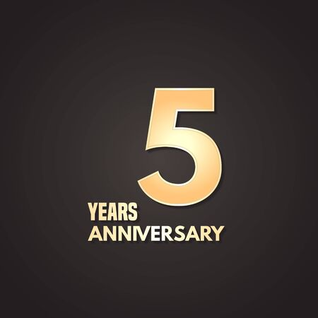 5 years anniversary vector icon, logo. Graphic design element