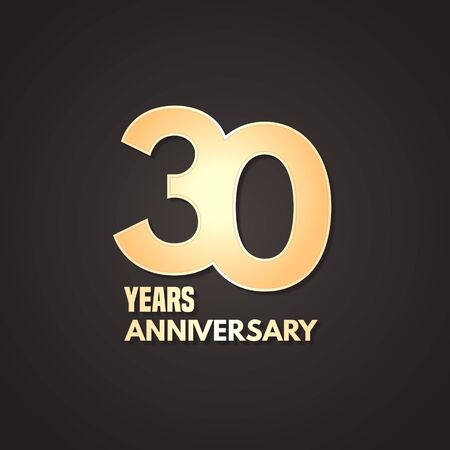 30 years anniversary vector icon, logo. Graphic design element