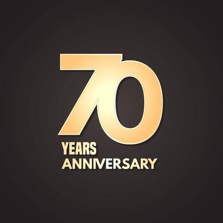 70 years anniversary vector icon, logo. Graphic design element Stock Illustratie