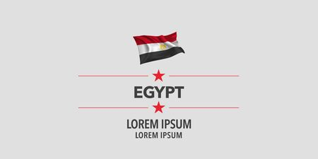 Egypt greeting card, banner, vector illustration. Egyptian holiday design element