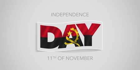 Angola happy independence day vector banner, greeting card Ilustrace