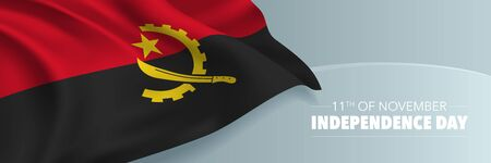 Angola independence day vector banner, greeting card.